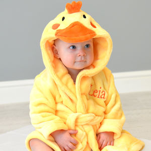 Personalised Soft Chick Dressing Gown - clothing