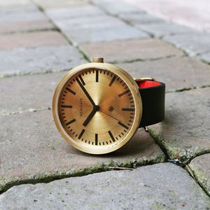 Newgate Drummer Brass Or Black Dial Watch - watches