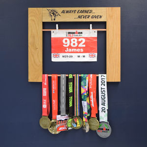 Personalised Medal Display Hanging Achievement Board