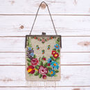 Vintage Art Deco Beaded Flower Bag