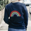 'Dreamer' Rainbow Embroidered Adult Organic Sweatshirt