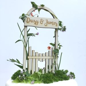 Personalised Love Gate Wedding Cake Topper - cake toppers & decorations