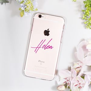 Personalised Typography iPhone Case