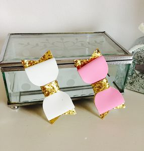 Patent Bow Tie Hair Bows - hair accessories