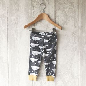 Whale Baby Leggings - clothing