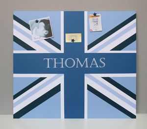 Giant Magnetic Noticeboard With Blue Union Flag Design - noticeboards