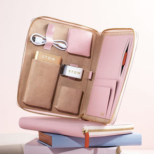 Personalised Luxury Leather Travel Tech Case For Her - 40th birthday gifts