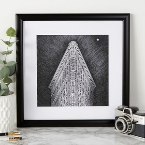 Flatiron Building Illustration Print - posters & prints