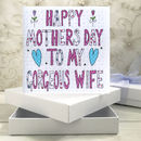 Personalised For My Wife Mothers Day Book Card