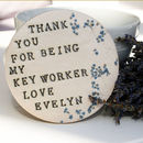 Key Worker Thank You Ceramic Coaster