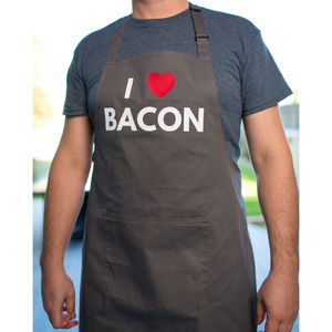 I Heart Bacon Dark Grey Apron