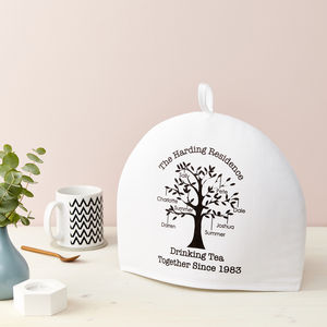 Personalised Family Tree Tea Cosy - tea & coffee cosies