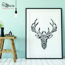 Contemporary Stag Print