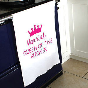 Personalised Queen Tea Towel - kitchen accessories