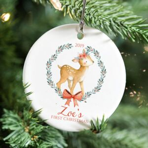 Baby's First Christmas Little Forest Deer Decoration