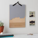 Coastline Wooden And Acrylic Wall Hanging