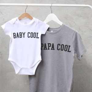 Papa Cool And Baby Cool T Shirt Set - gifts by category