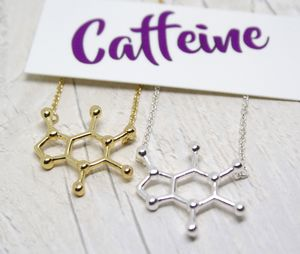 Caffeine Molecule Necklace - necklaces & pendants