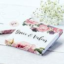 Pink Rose Flower Necklace On A Customisable Gift Card