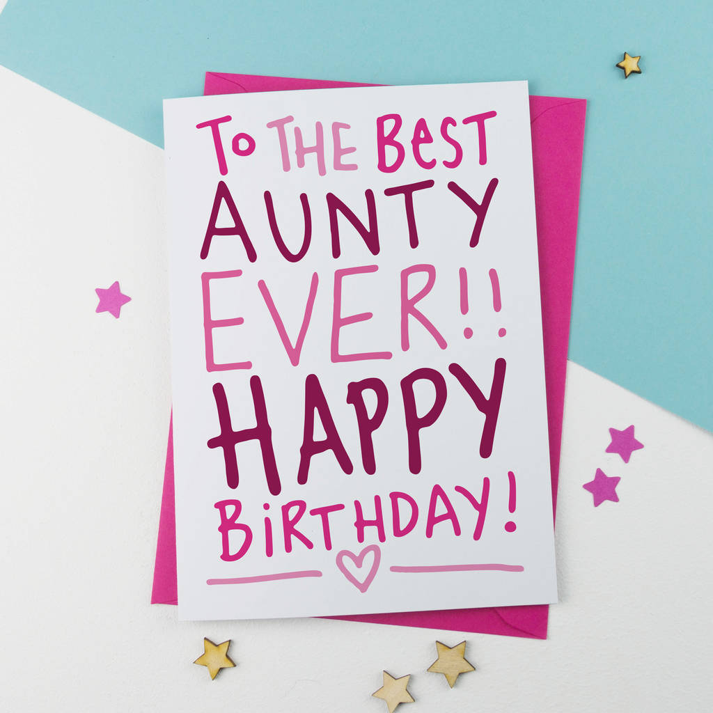 Best Ever Auntie Aunt Aunty Birthday Card