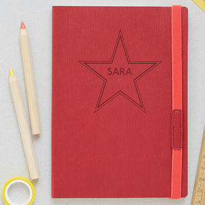 Name In Stars Personalised Notebook - writing