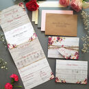 concertina wedding invitations