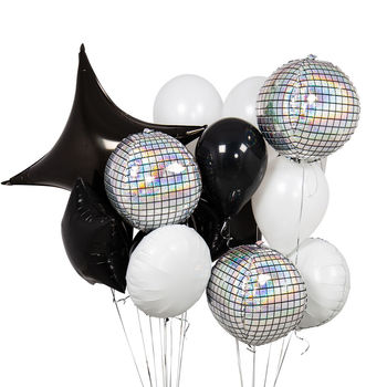 Monochrome Crazy Party Balloon Bunch