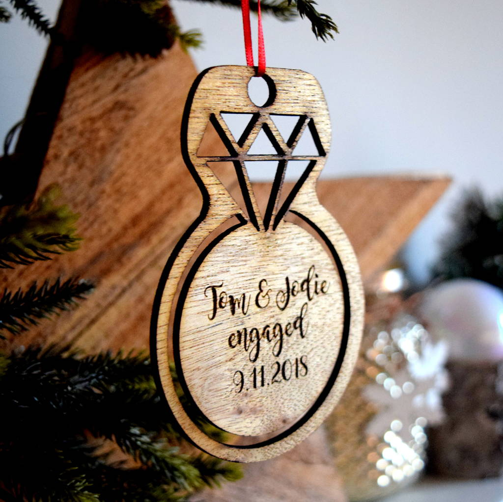 Diamond Ring Engagement Christmas Decoration By The