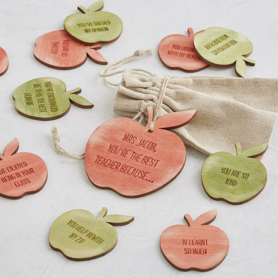 Personalised Thank You Best Teacher Gift Message Tokens By Bombus