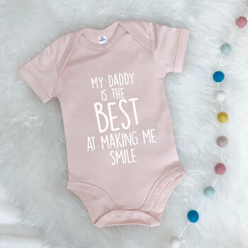 'My Daddy Is The Best…' Personalised Babygrow