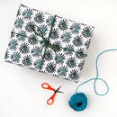 Black Dandelion Wrapping Paper