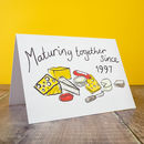 Personalised Cheesy Anniversary Card