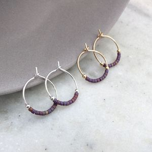 Petite Delica Hoops In Various Colours