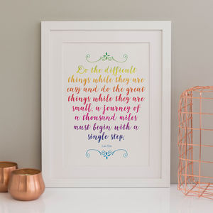 Personalised Quote Lyric Or Saying Print - typography