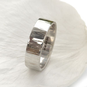 Tree Bark Textured Ring, 18ct Gold Or Platinum - rings