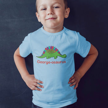 Personalised Children's Dinosaur T Shirt