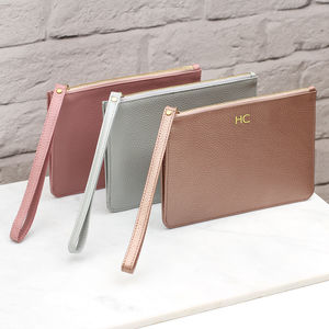0a24d2bf7b03 Personalised Luxury Leather Wrist Strap Clutch Bag - clutch bags