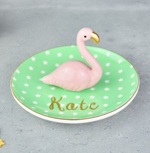 Flamingo Jewellery, Ring And Trinket Dish - jewellery storage & trinket boxes