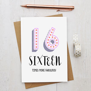 16th Birthday Card - shop by category