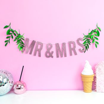 'Mr And Mrs' Greenery Wedding Garland