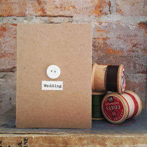 'Wedding' Porcelain Button Card - shop by category