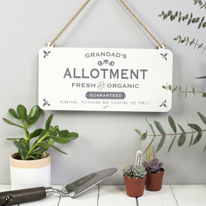 Grandad's Allotment Metal Sign - art & decorations
