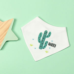 Personalised Cactus Bib - baby & child