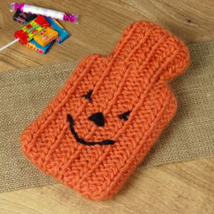 Pumpkin Mini Hot Water Bottle And Cover - halloween spooky beauty