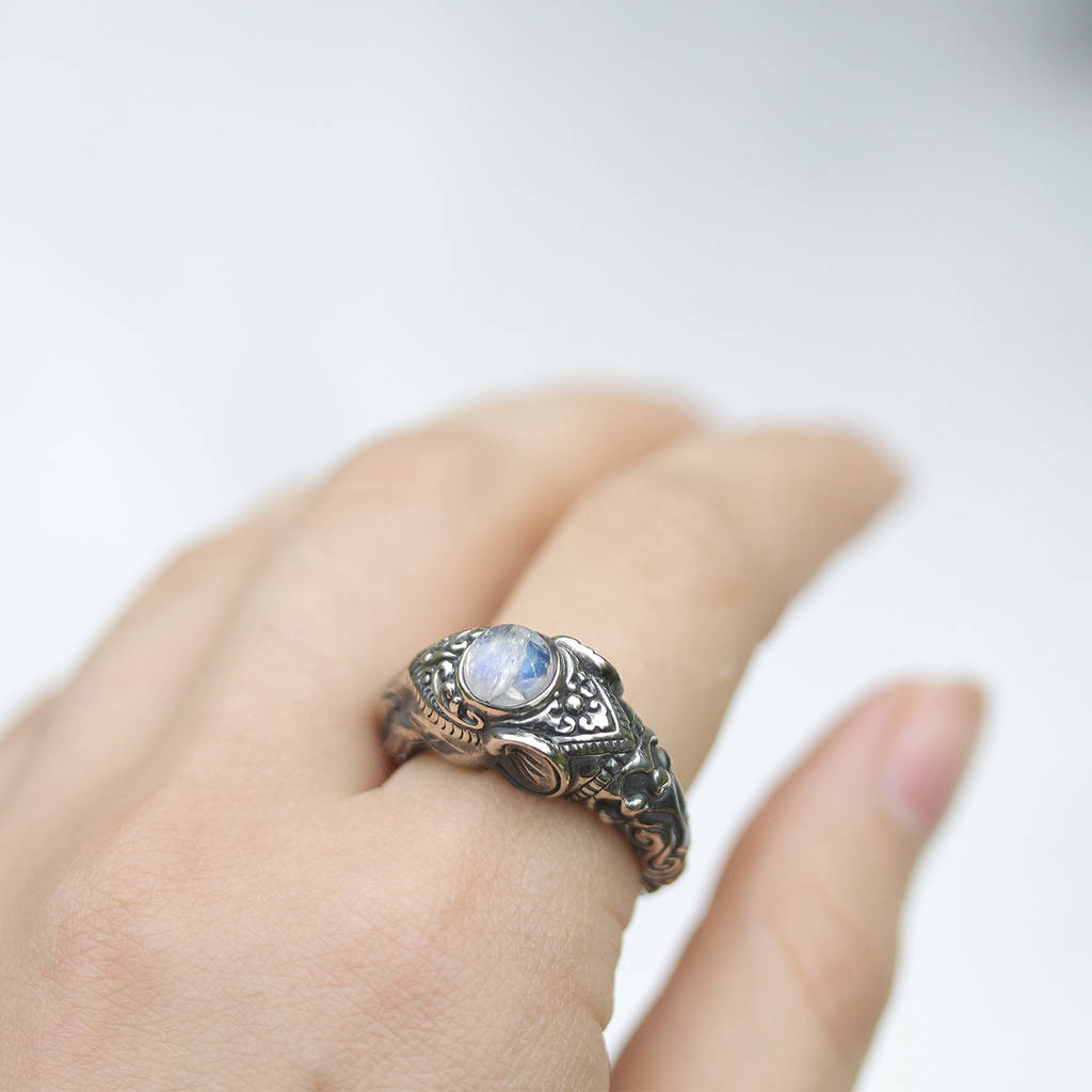 engagement thai silver rings band ring sterling elephant wt gms