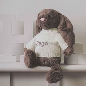 Personalised Truffle Bashful Bunny Soft Toy - baby toys