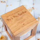 Wedding Personalised Oak Photo Cube Memory Box