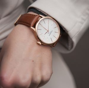 'Confluence' Gold Unisex Watch - brand new partners