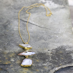 Geode And Diamond Statement Necklace
