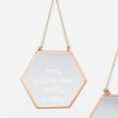 Engraved Geometric Copper Mirror